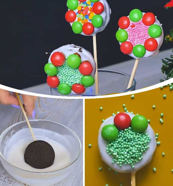 Christmas Wreath Pops