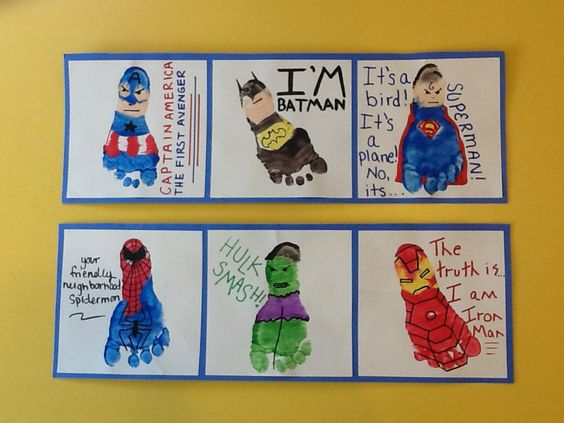 Superhero Footprint Craft