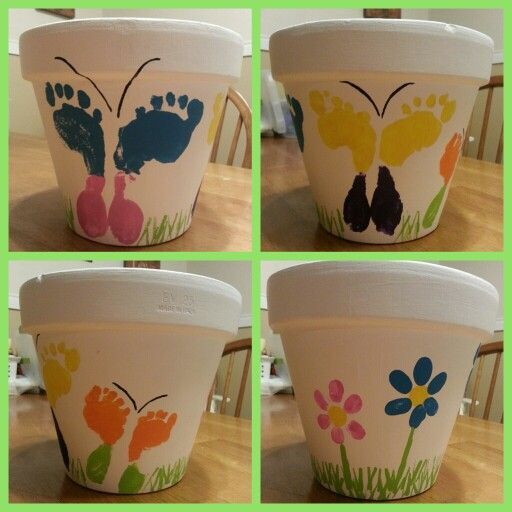 Mothers Day Footprint Art