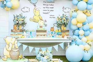 Winnie The Pooh Shower Decorations  from diycuteness.com