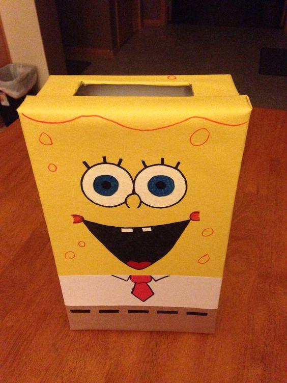 Spongebob valentines box
