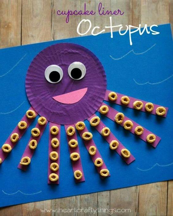 Cupcake Liner Octopus