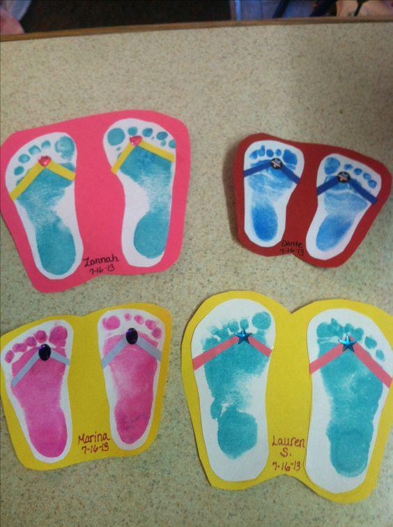 Foot Print Flip Flops