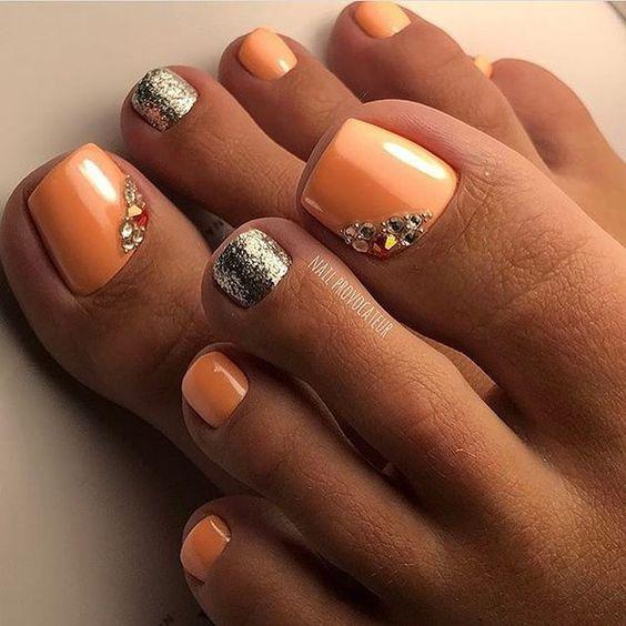 Peach & Silver