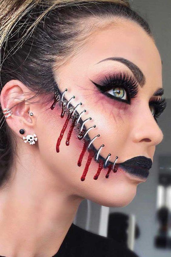 Halloween Sminkek.Diy Halloween Makeup For Women Diy Cuteness