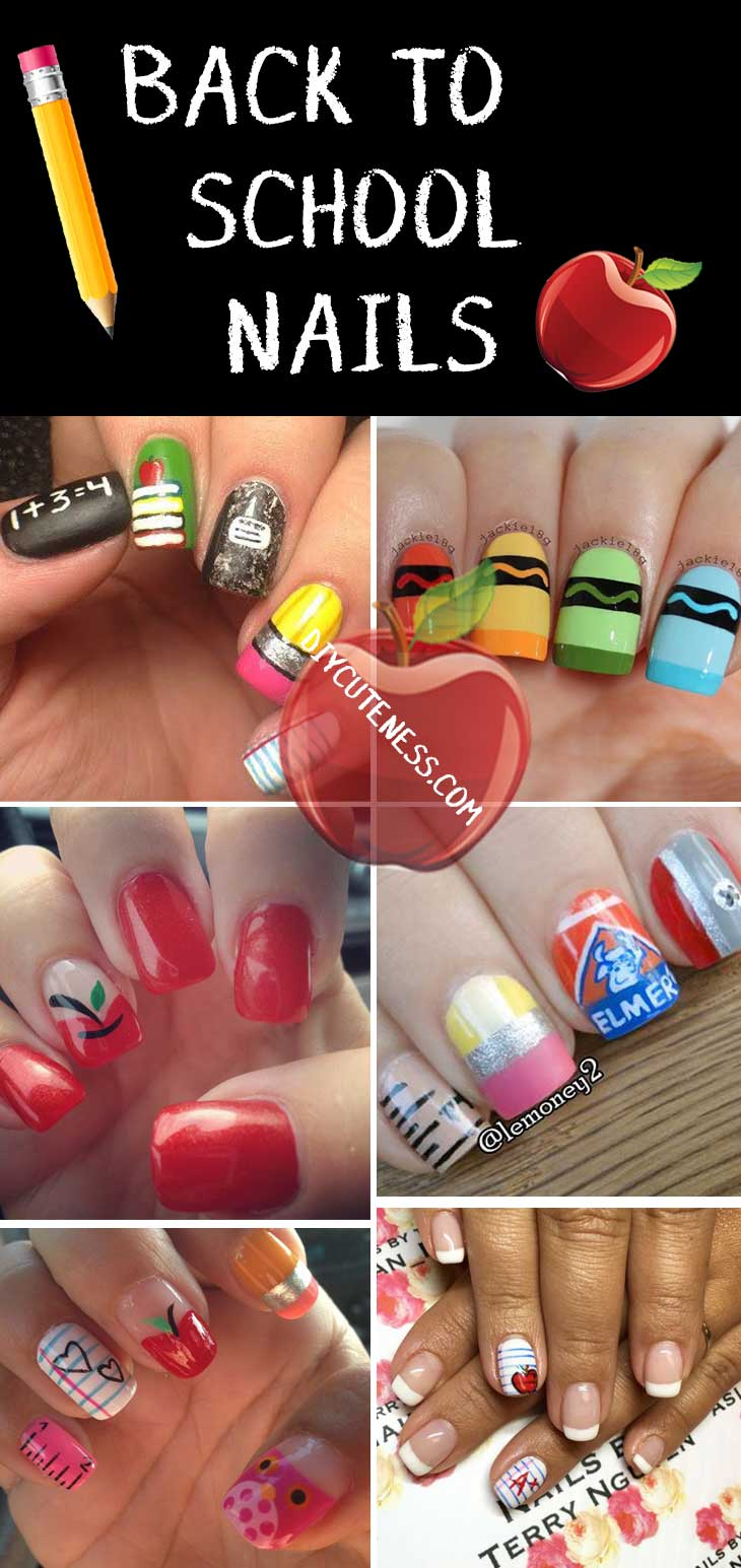 Diy Back to School Nail Art for Teens