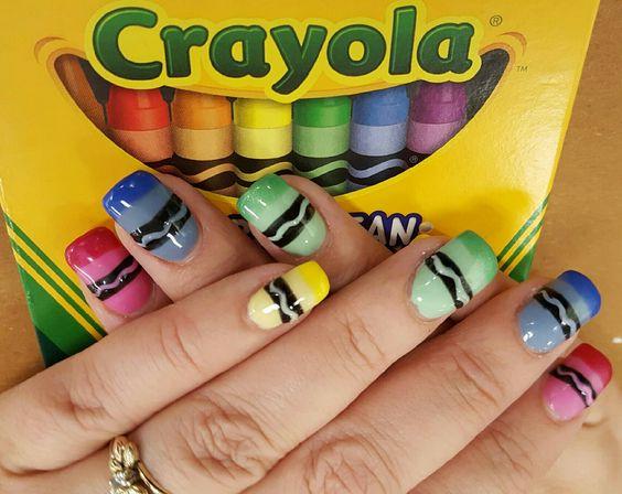 Crayola Nail Art