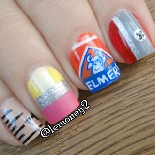 Stationery Nail Designs