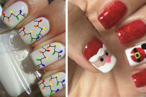 Easy DIY Christmas Nail Art Designs , DIY Cuteness