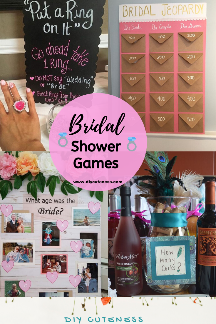 Diy Bridal Shower Ideas And Games Activities Diy Cuteness