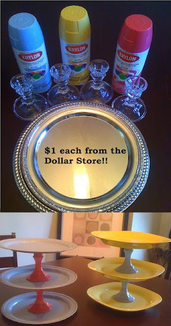 Dollar Store Cake Stands