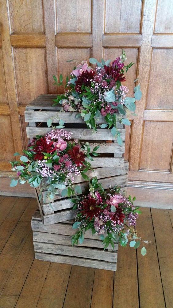 Floral Crate Idea
