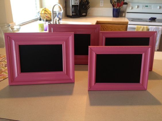 Pink Chalkboard Signs
