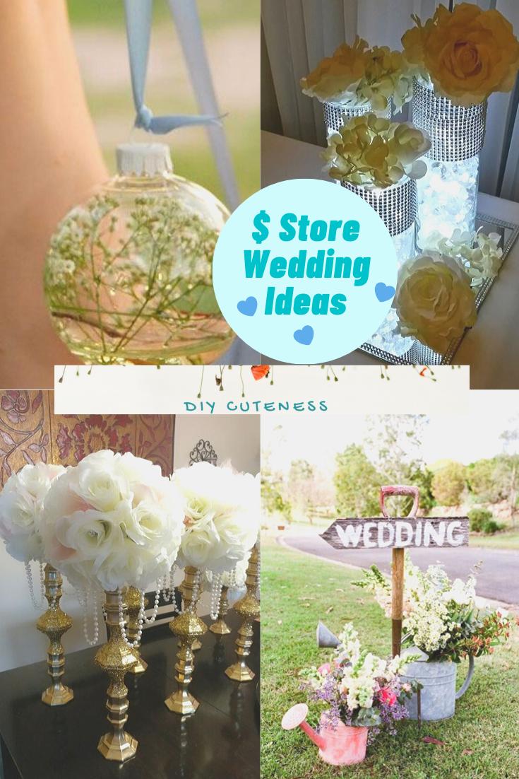 Diy Dollar Store Wedding Decoration Ideas Diy Cuteness