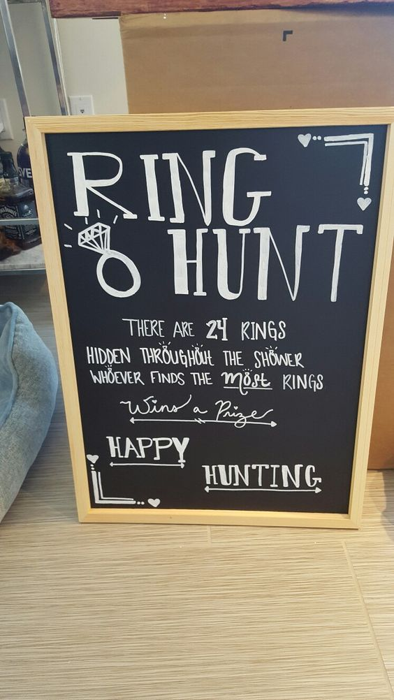 Ring Hunt Bridal Shower Game | DIYCUTENESS