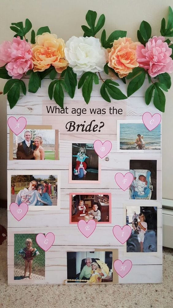 What age was the bride Bridal Shower Game | DIYCUTENESS