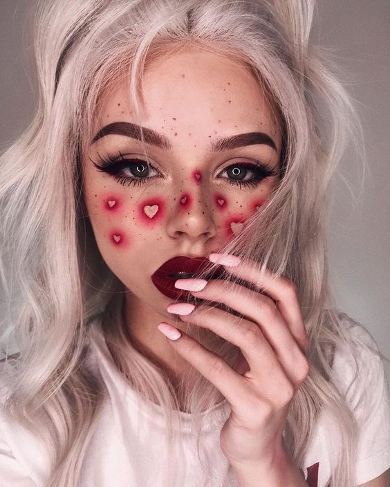 Red Heart Freckles