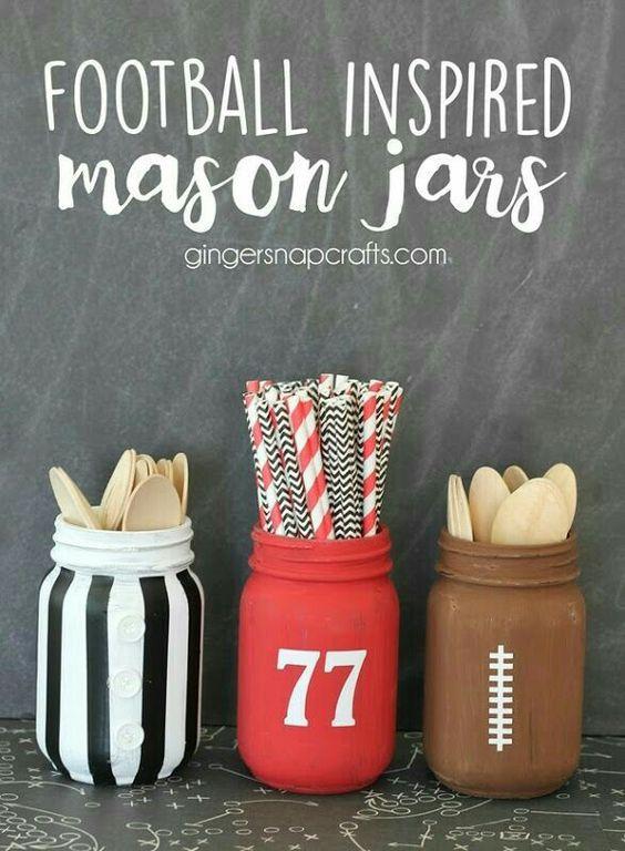 Football Utensil Jars
