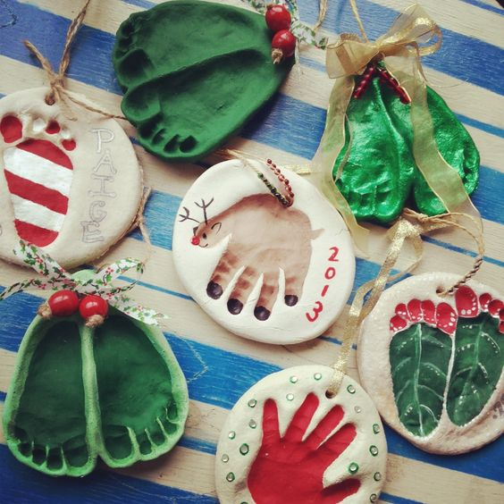 Handprint Ornaments
