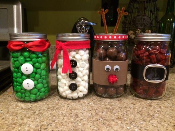 Mason Jar Christmas Characters