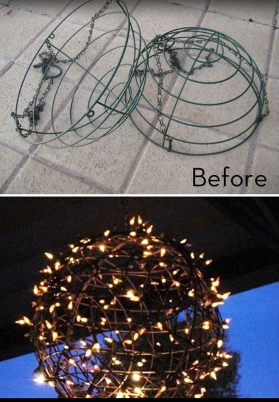Outdoor Christmas chandelier