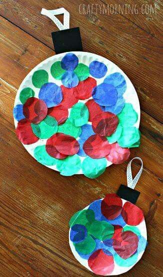 Paper Plate Bauble