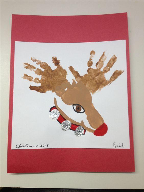 Reindeer Hand & Footprint