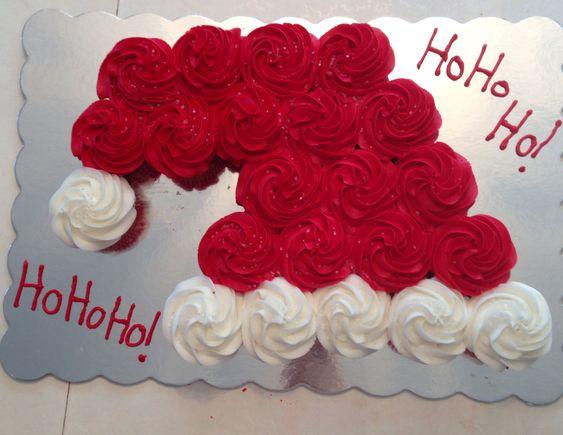 Santa Hat Cupcake cake