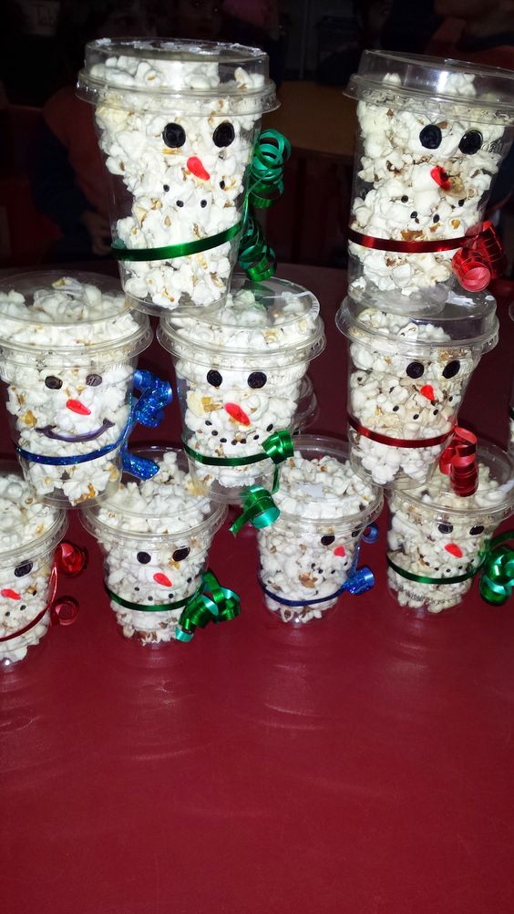 Snowmen Popcorn Cups
