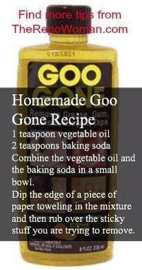 Goo Gone Recipe