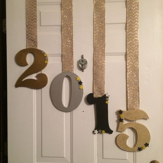 New Years Door Decor