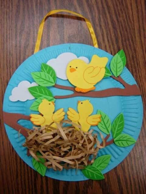 Paper Plate Birds Nest