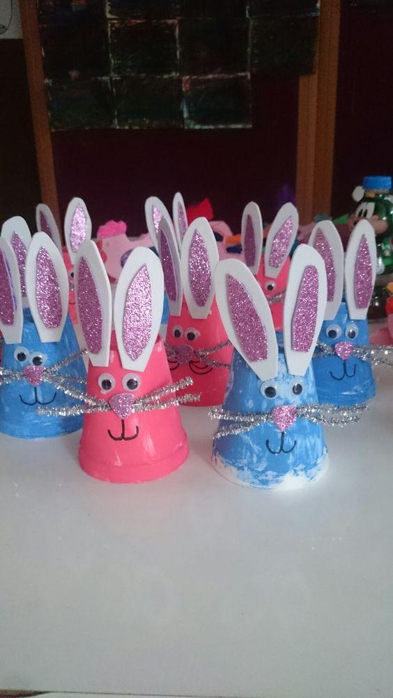 Plastic Cup Bunnies