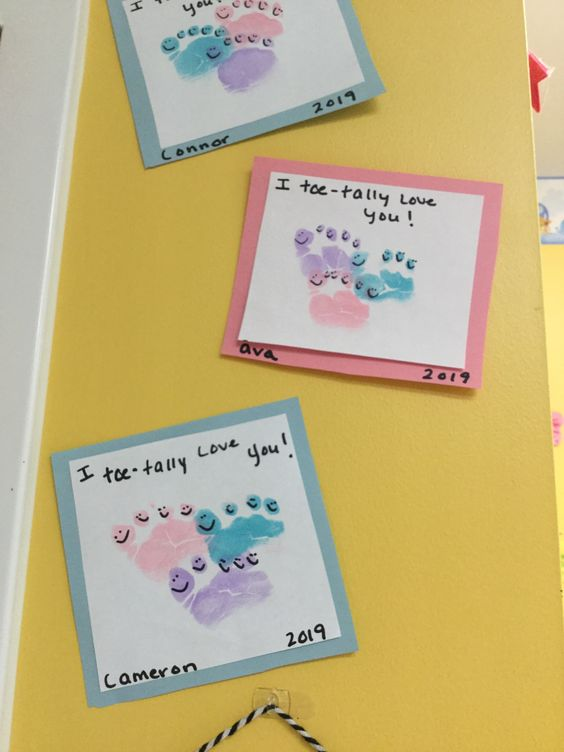 Footprints toe-tally love you valentine art