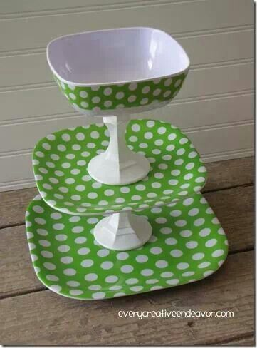 Polka Dot Tiered Tray