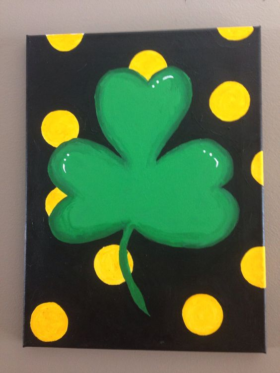 Shamrock Canvas Painting