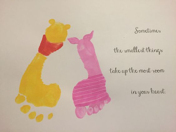 Winnie the Pooh and Piglet Footprint