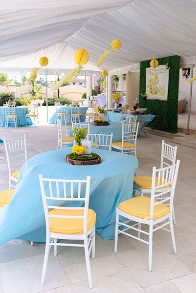 Yellow & Blue Decor