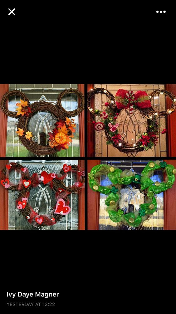 Mickey Mouse Vine Wreath