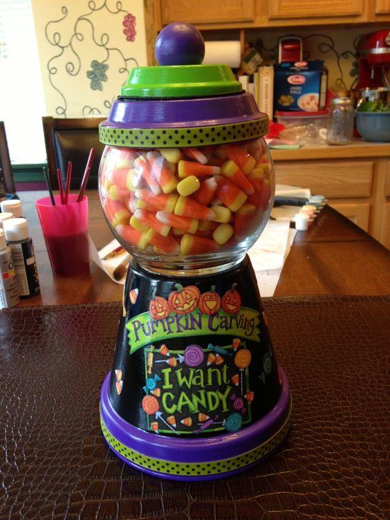Diy Halloween Candy Jars Diy Cuteness