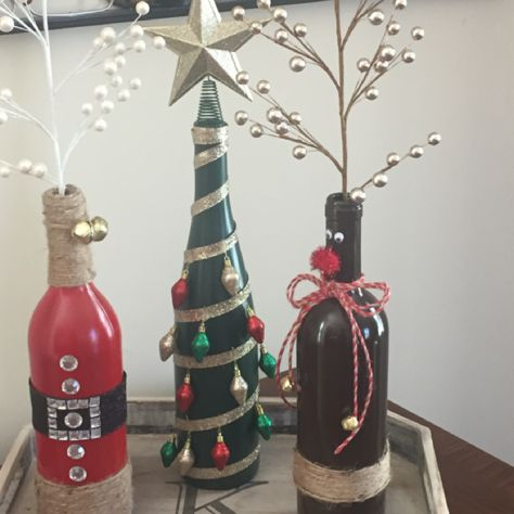 Wine Bottle Christmas Crafts