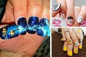 easy diy harry potter nails designs  diy cuteness