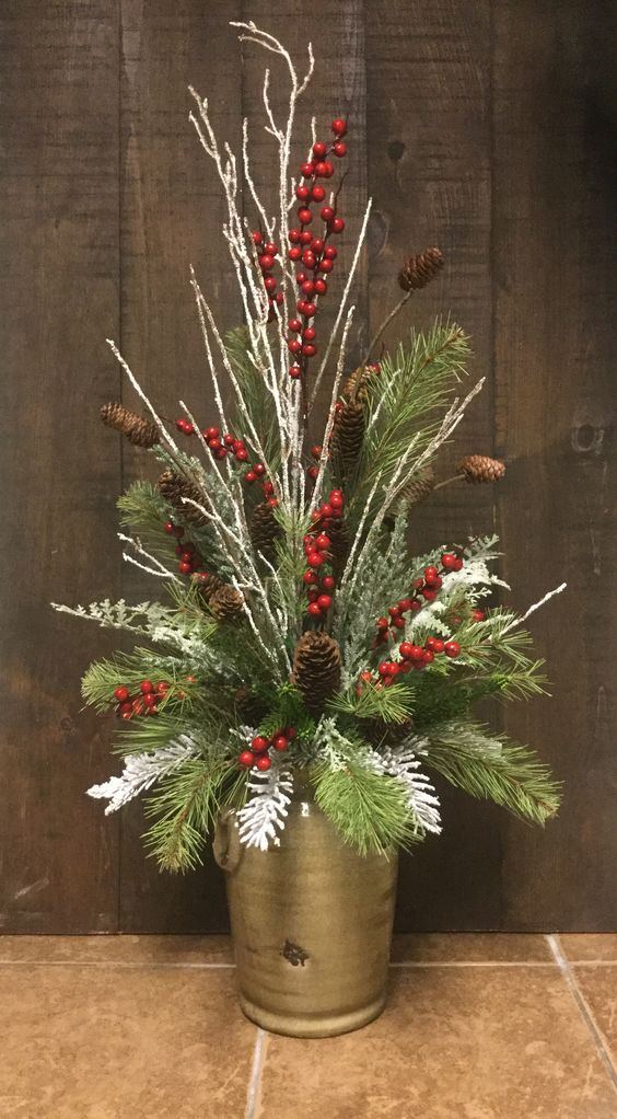 Diy Christmas Floral Arrangements Diy Cuteness