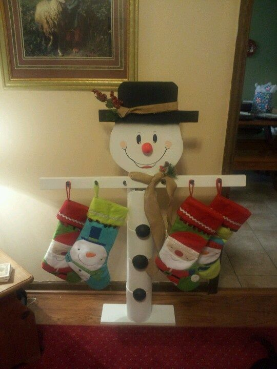 Snowman Stocking Holder