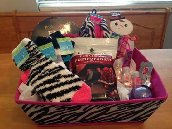 Zebra Themed Gift Basket
