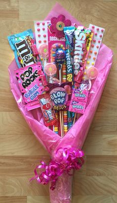 How to make a Candy Bouquet #valentines #boyfriend #gifts