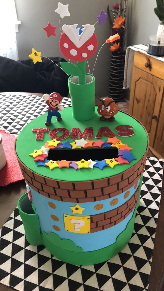 Mario Themed Valentines Box