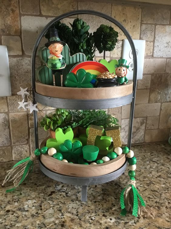 St Patrick's Day Tiered Tray