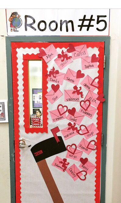 Love Letters - valentines classroom door