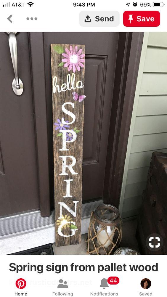 How to Make a Spring Porch Sign